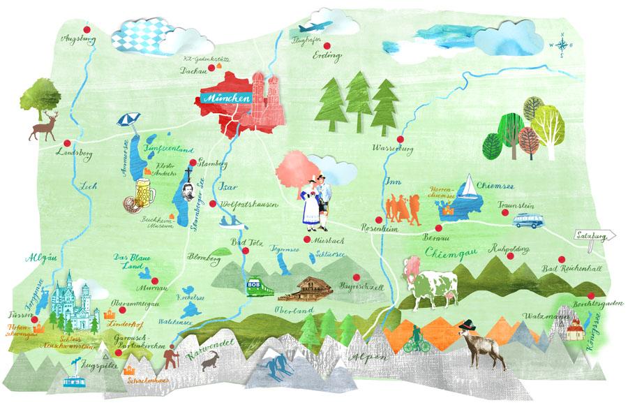 Bayern-muenchen-umland-illustration-Karte-Julia-Pfaller
