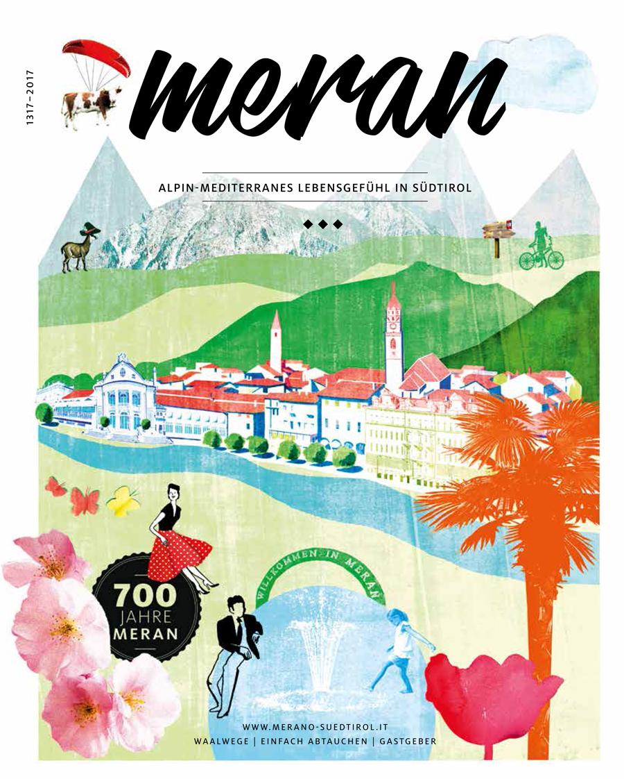 meran illustrierte karte grafik illustration
